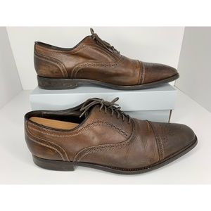 To Boot New York Adam Brown Wingtip Oxfords US 10